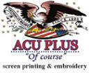 ACU PLUS Screen Printing & Embroidery, logo