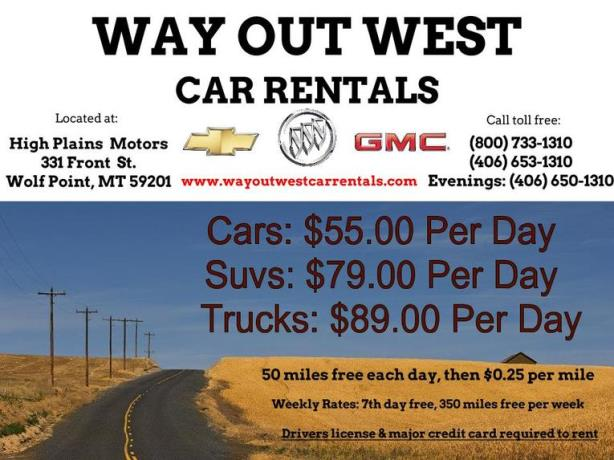 Way-Out-West Car Rentals